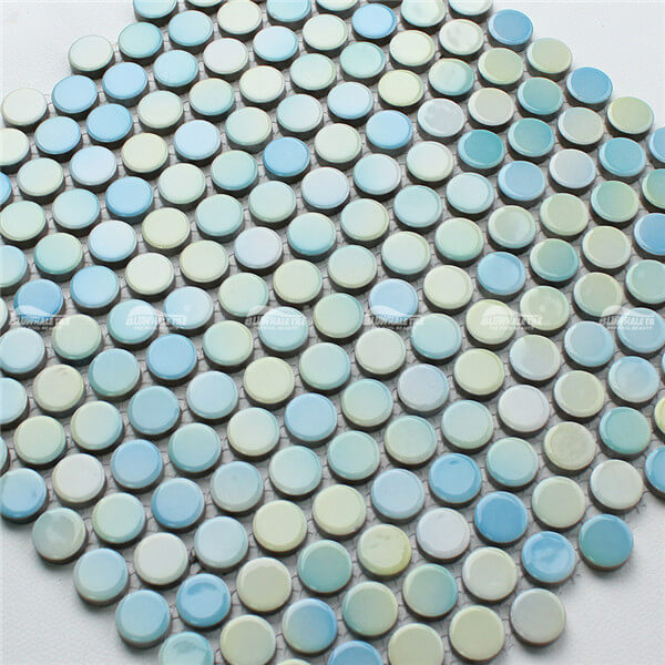 Penny Round BCZ002,yellow penny tile, bathroom mosaic tiles for sale,mosaic tile bathroom ceramic