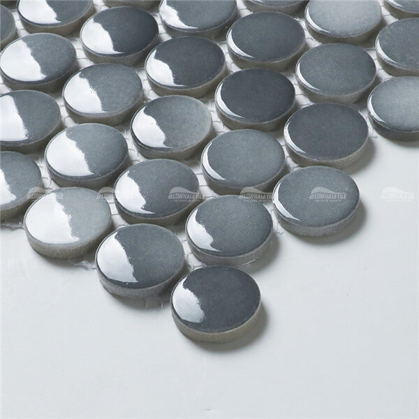 Penny Round BCZ002B1,round mosaic tiles, bathroom mosaic tile backsplash, cheap wholesale pool tile