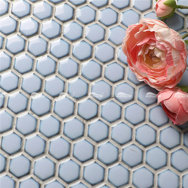 Mini Hexagon BCZ605,blue hexagon mosaic tile, small hexagon mosaic tiles, mosaic hexagon tile bathroom